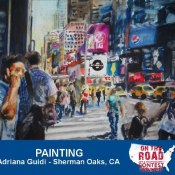 On The Road Contest Winner Mel's NY painting