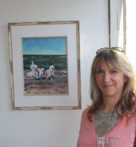 malibleu gallery with me and my painting