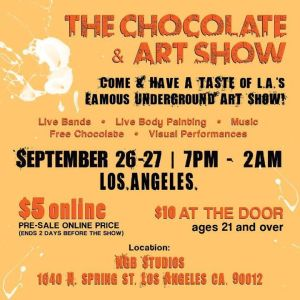choc & art show sept 27th