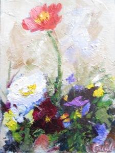 Poppies n Pansies 6 x 8 2nd
