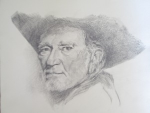 willie graphite on paper