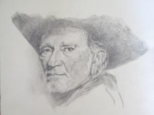 willie graphite on paper