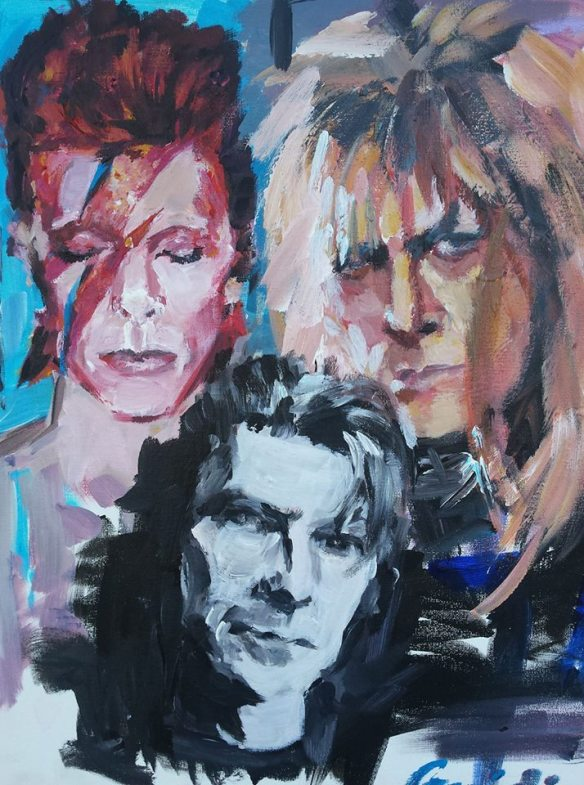 The Changes ...of David Bowie 16 x 20 acrylic on canvas aug 2017
